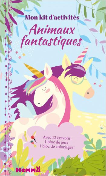 Mon kit d'activités – Animaux fantastiques – Licornes –  Kit de coloriage et activités – dès 5 ans