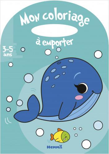 Mon coloriage à emporter - Baleine – Album à colorier avec poignée – dès 3 ans