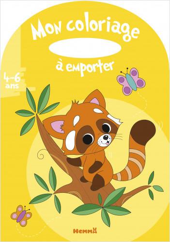 Mon coloriage à emporter - Panda roux – Album à colorier avec poignée – dès 4 ans