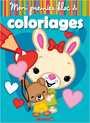 Mon premier bloc de coloriage – Lapins – Bloc de coloriage avec gros contours – dès 3 ans