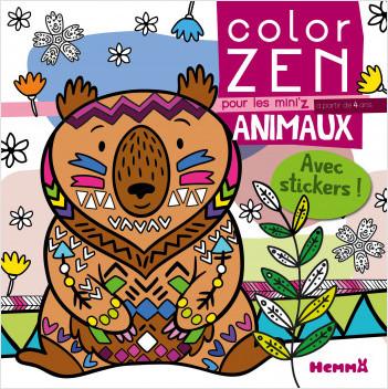 Color Zen pour les Mini'z – Animaux – Livre de coloriage détente – dès 4 ans