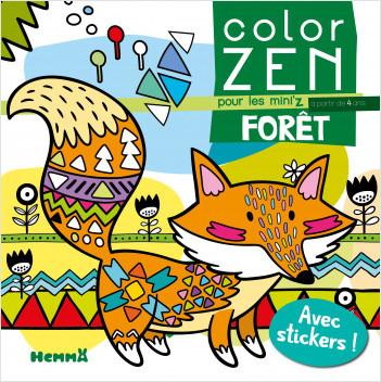 Color Zen pour les Mini'z – Forêt – Livre de coloriage détente – dès 4 ans