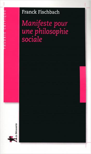 Manifeste pour une philosophie sociale